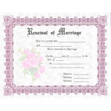 Fancy Renewal of Marriage Certificate