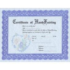 Fancy Handfasting Certificate