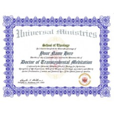 Metaphysical Doctorate Degree