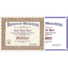 Replacement Ordination Certificates