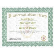 General Religious Doctorate Degree