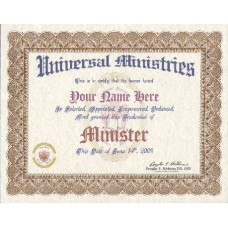 Fancy Ordination Certificate